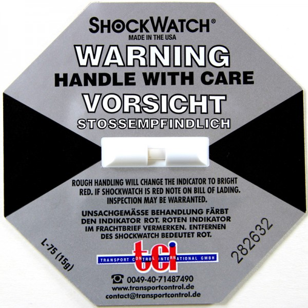 Schockindikator Shockwatch®, grau