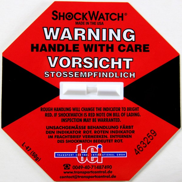 Schockindikator Shockwatch®, rot